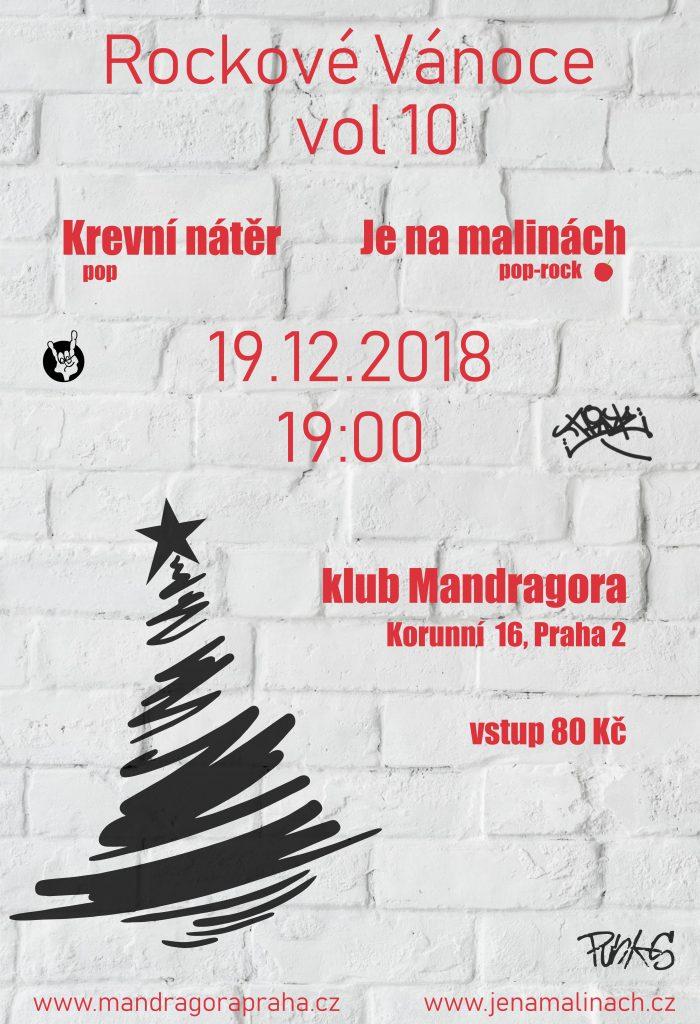 Rockové Vánoce vol. 10 @ Klub Mandragora   Hlavní město Praha   Česko